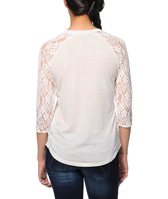 Empyre Richland Anchor Cream Lace Top