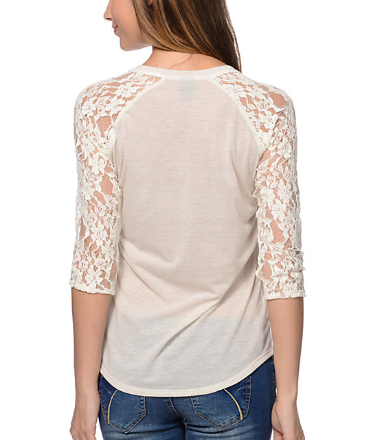Empyre Richland Vanilla White Lace Top
