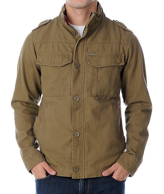 Empyre Ripcord Khaki Canvas Jacket