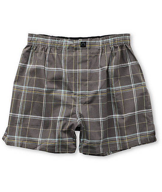 Empyre Robinson Grey Plaid Boxers