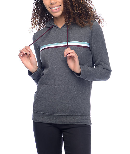 Empyre Rogers Multi Ribbon Charcoal Hoodie