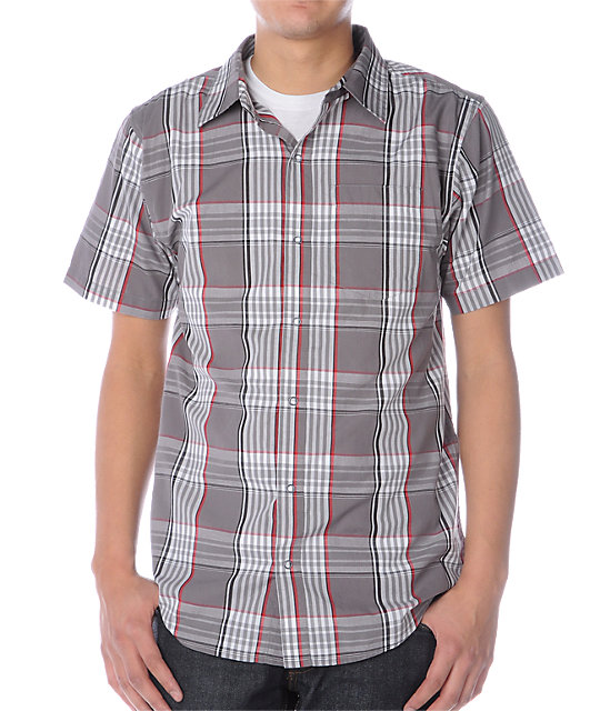 Empyre Rogue Grey & Red Flannel Shirt