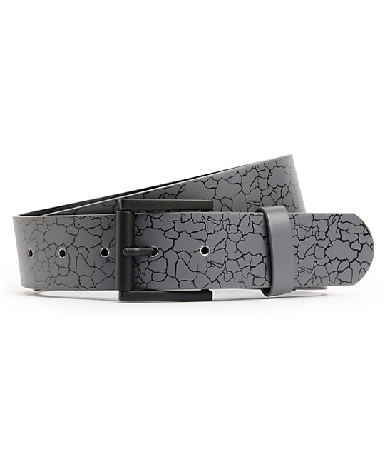 Empyre Rollin Crackle Charcoal Belt