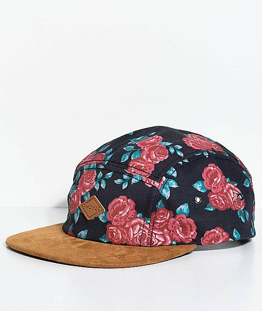 Empyre Rose Black 5 Panel Strapback Hat