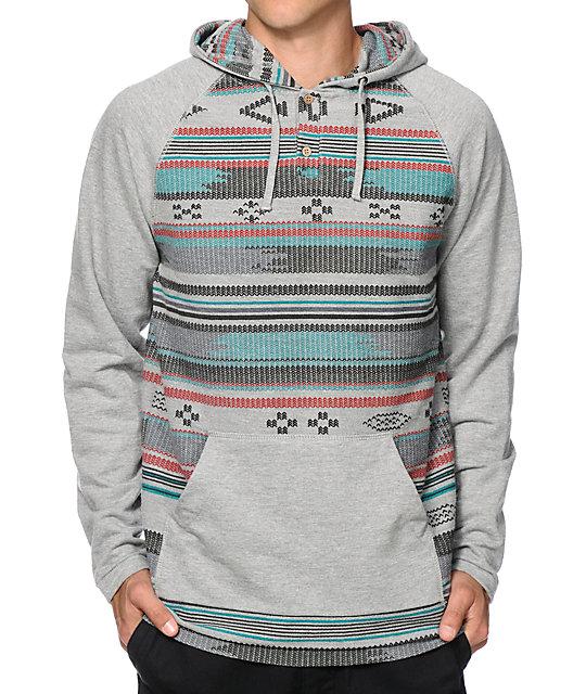 Empyre Rubicon Tribal Hooded Henley Shirt