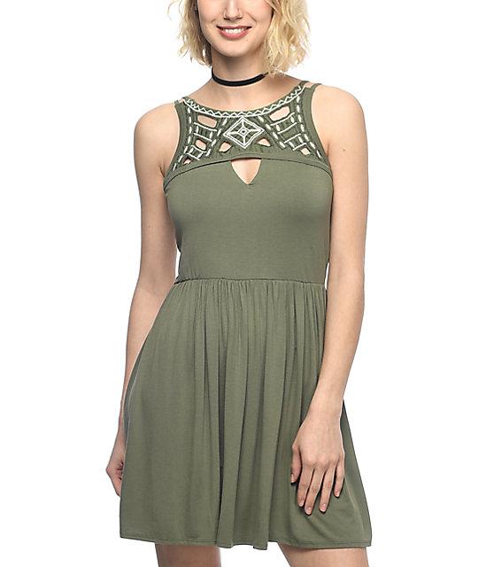 Empyre San Olive Embroidered Dress