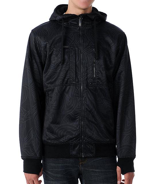 Empyre Schematic Black Topo Tech Fleece Jacket