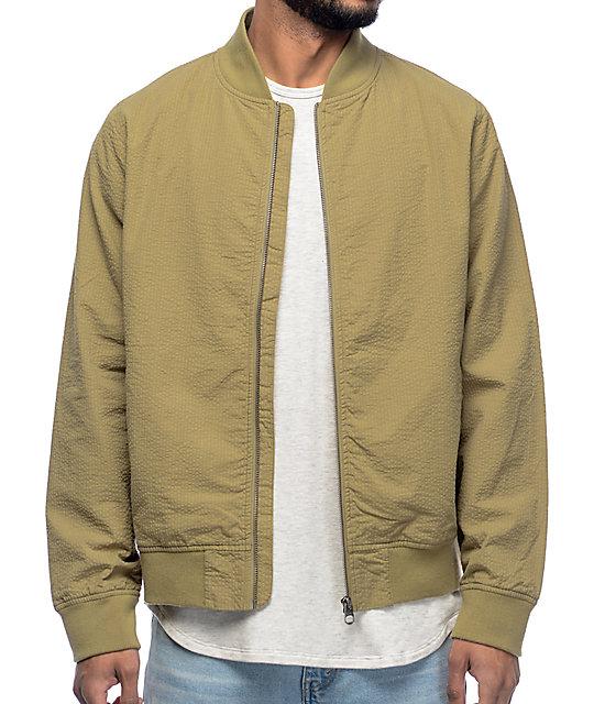 Empyre Seersucker Sage Bomber Jacket