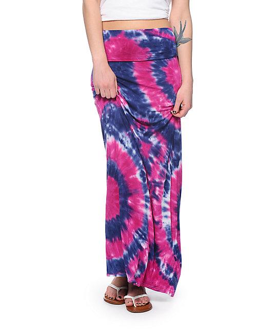 Empyre Shayla Fuchsia Tie Dye Maxi Skirt