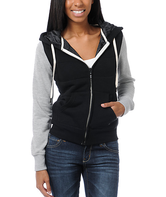 Empyre Shelby Black & Heather Grey Hoodie