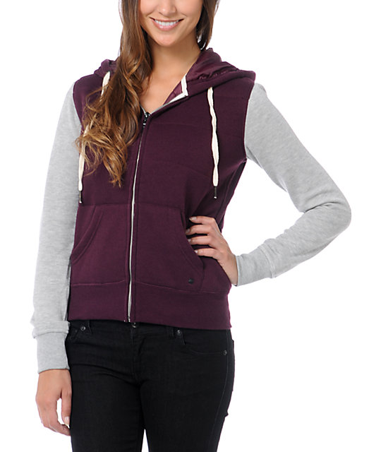 Empyre Shelby Blackberry Zip Up Hoodie
