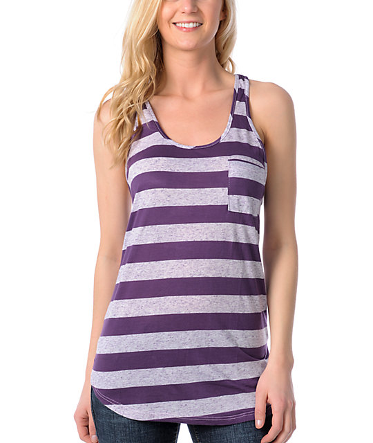 Empyre Shining Shadow Purple Stripe Tank Top
