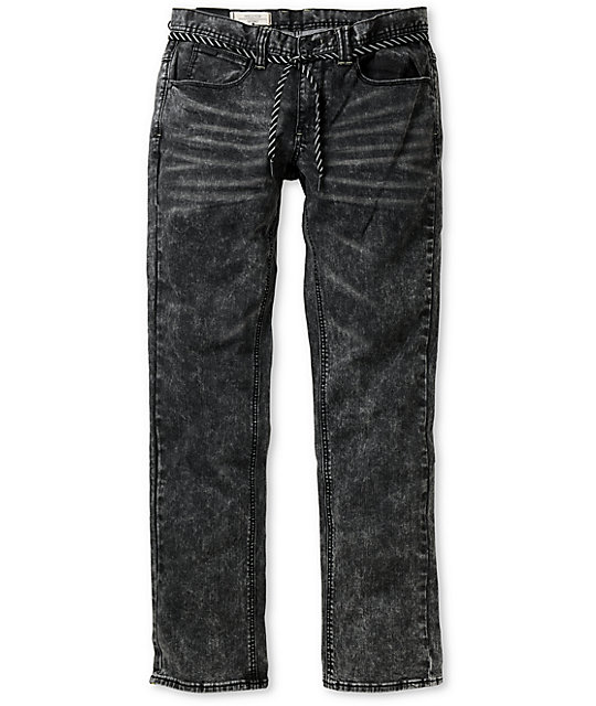 Empyre Skeletor Acid Wash Skinny Jeans