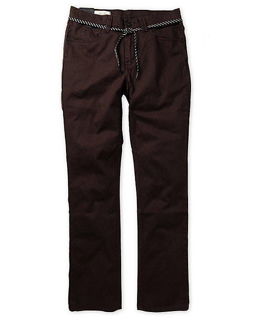 Empyre Skeletor Dark Brown Heavy Twill Pants at Zumiez : PDP