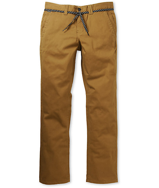 Empyre Skeletor Dark Khaki Skinny Chino Pants at Zumiez : PDP