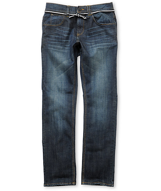Empyre Skeletor Dark Stone Blue Skinny Jeans