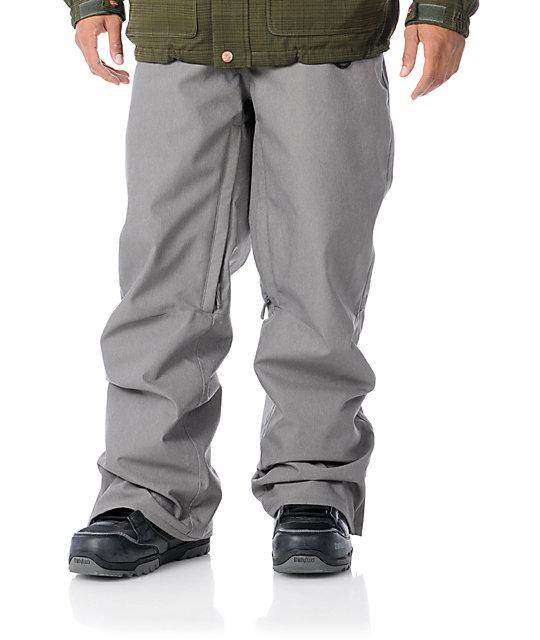Empyre Skeletor Grey 10K Mens Snowboard Pants