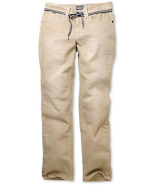 Empyre Skeletor Khaki Skinny Jeans