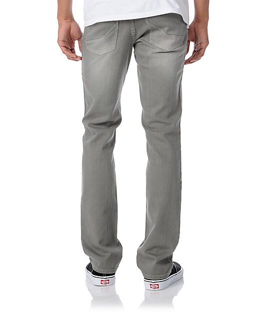 Empyre Skeletor Light Grey Slim Jeans