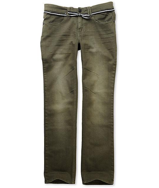 Empyre Skeletor Olive Skinny Jeans