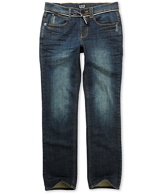 Empyre Skeletor Resin Dirty Wash Slim Jeans
