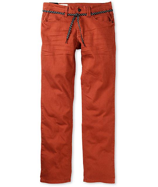 Empyre Skeletor Terracotta Red Skinny Jeans