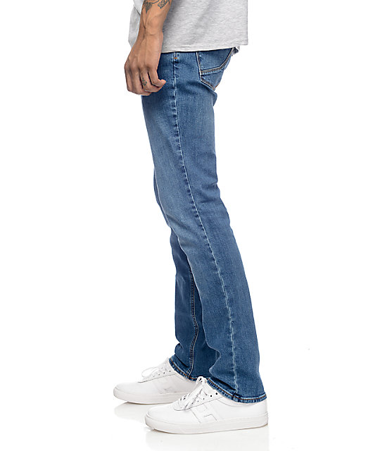 Empyre Skeletor Vintage Medium Blue Skinny Fit Jeans