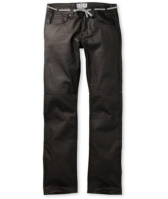 Empyre Skeletor Waxed Black Slim Jeans