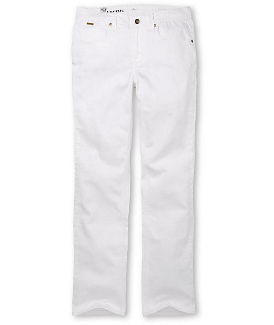 Empyre Skeletor White Slim Jeans