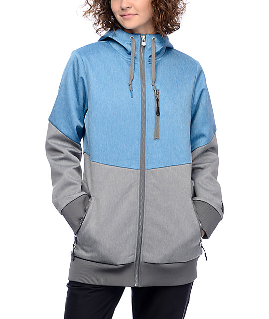Empyre Slopes Teal & Charcoal 10K Softshell Jacket