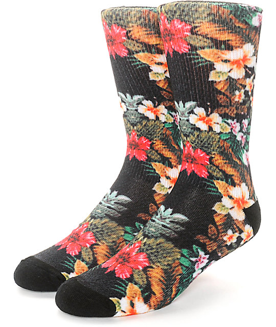 Empyre Solstice Floral Sublimated Crew Socks