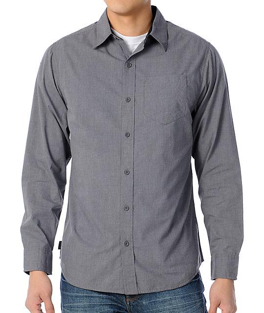 Empyre Spiff Grey Long Sleeve Woven Shirt