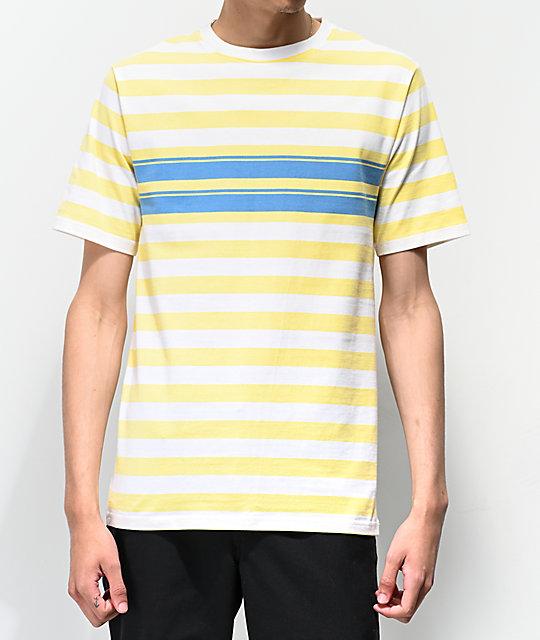 Rayas De Y Camiseta Azul Amarilla Empyre Split Punto CxBroedW