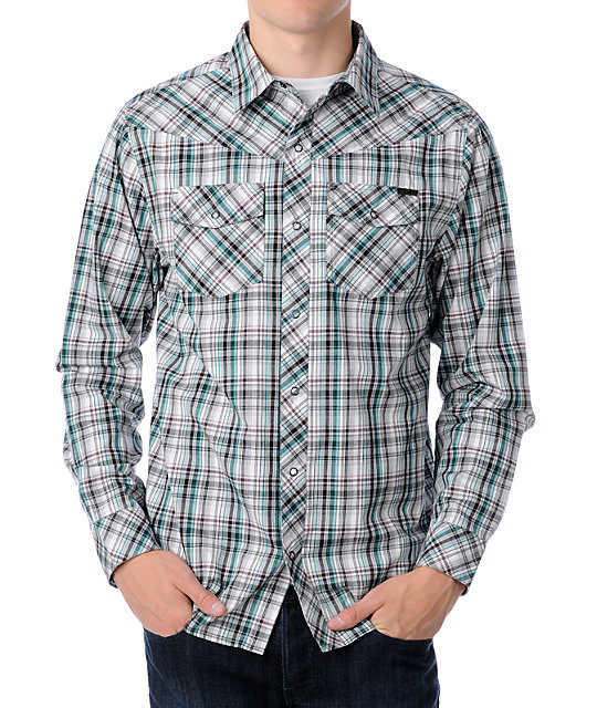 Empyre Stacked White & Blue Woven Shirt