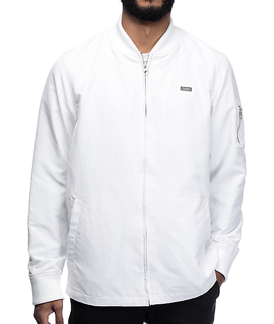 Empyre Stealth White Nylon Bomber Jacket at Zumiez : PDP