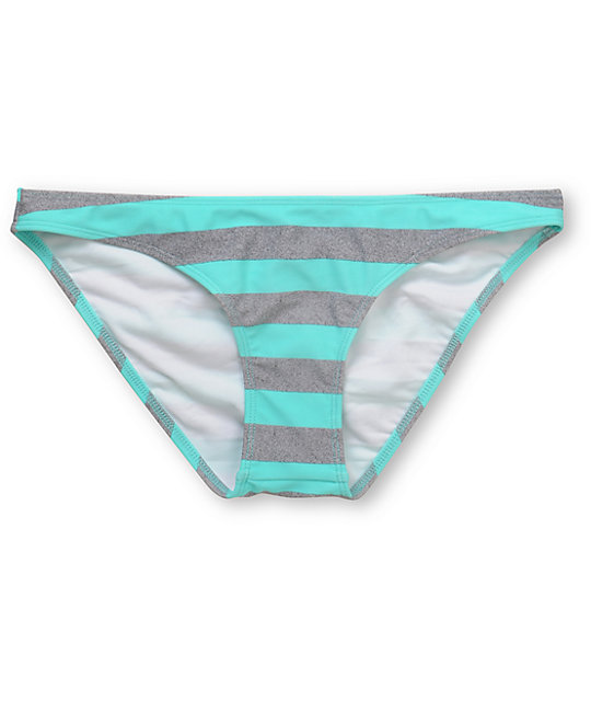 Empyre Stilt Turquoise Striped Cinch Bikini Bottom