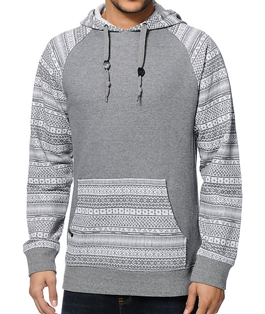Empyre Stones Charcoal Tribal Pullover Hoodie | Zumiez