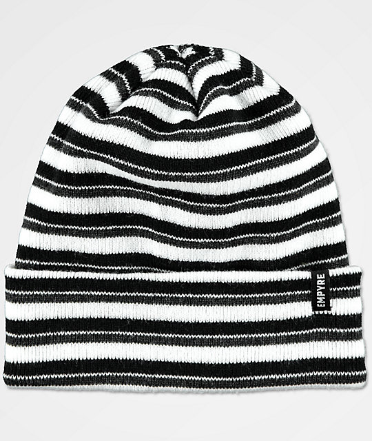 Empyre Stripe Black & Grey Beanie
