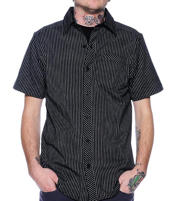 Empyre Suit Black Pinstripe Woven Shirt