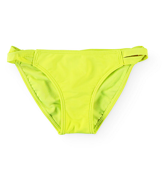 Empyre Sunkissed Neon Yellow Strap Side Bikini Bottom