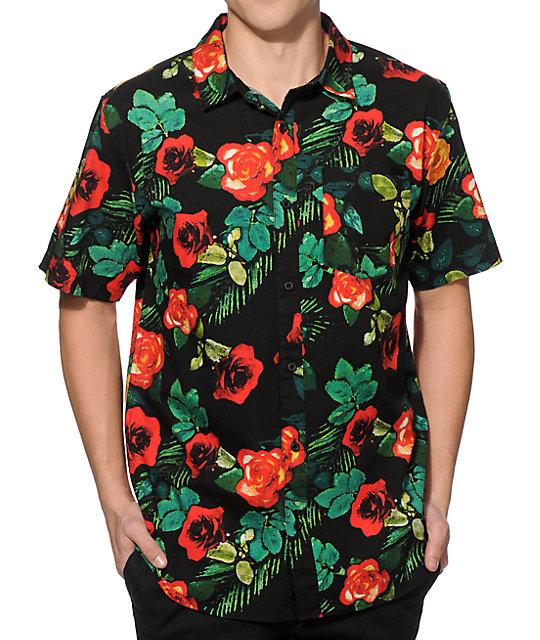 empyre super thorn flower button up shirt at zumiez pdp