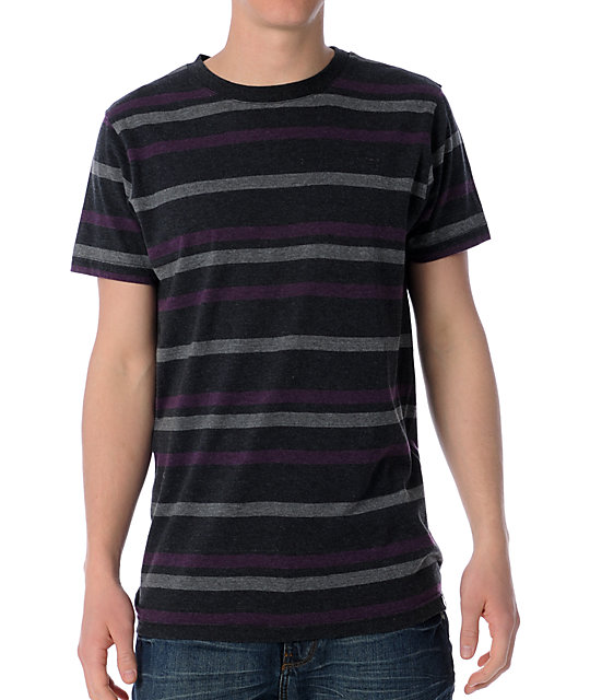Empyre Supreme Charcoal & Purple Knit T-Shirt