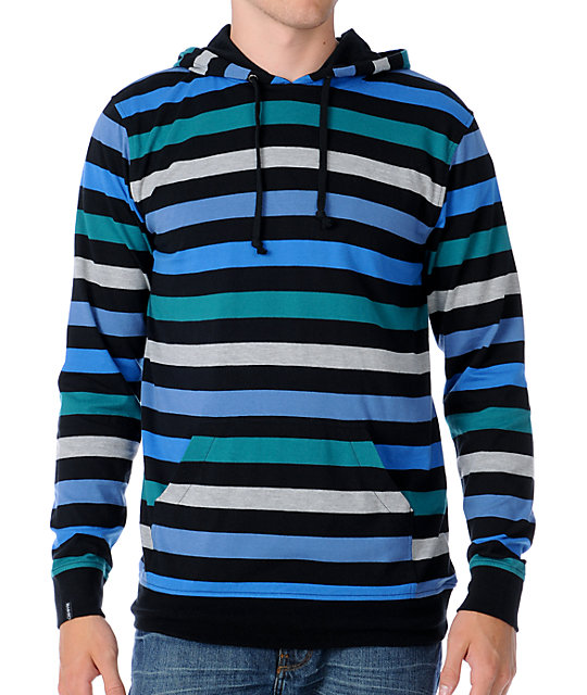 Empyre Suspeded Black Hooded Knit Shirt