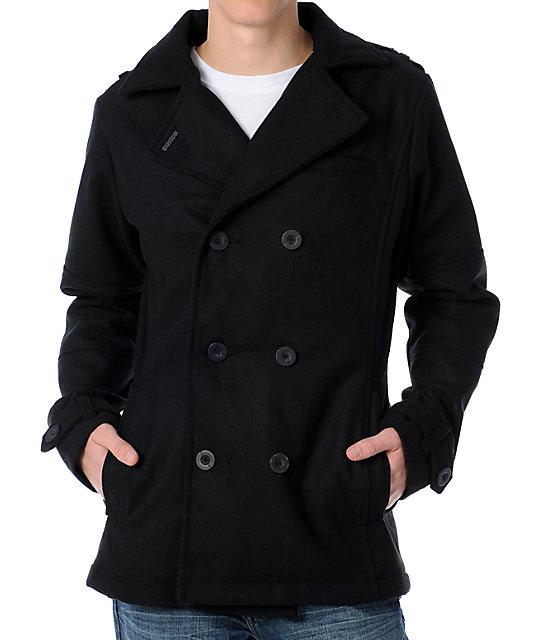 Empyre Swagger Black Pea Coat