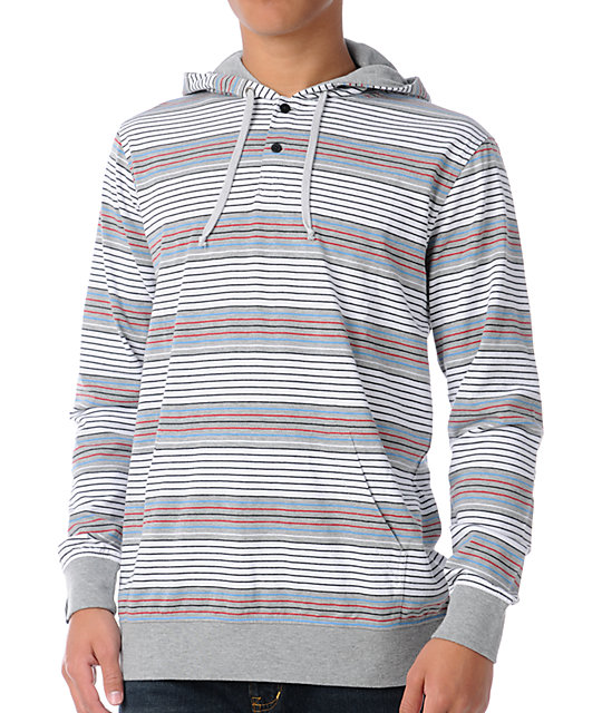 Empyre Switch Grey Stripe Pullover Hooded Shirt