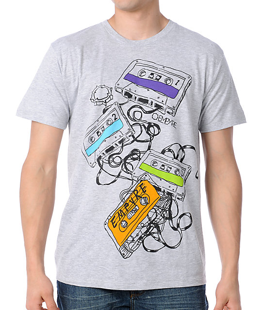 Empyre Tangled Tapes Grey T-Shirt