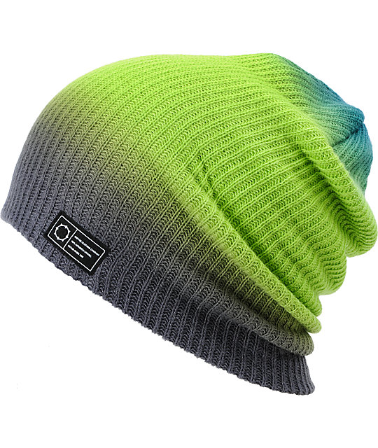Empyre Teal, Green & Grey Horizon Dip Beanie