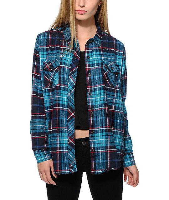 Girls' Flannel Shirt, Plaid $ Signature Lightweight Flannel Oversized Shirt, Embroidered Rangeley Flannel Shirt Long Sleeve Slightly Fitted Plaid Men's Reg.