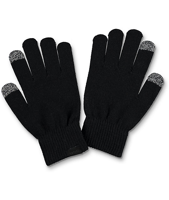 Empyre Techy Knit Black Gloves