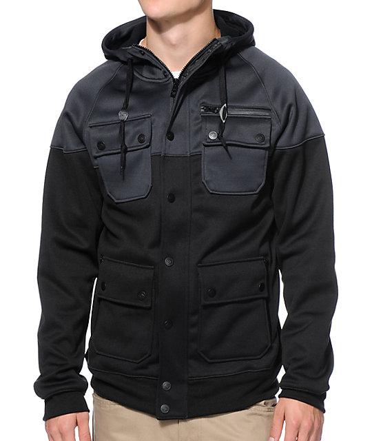 Empyre Teleporter Black & Charcoal M65 Tech Fleece Jacket